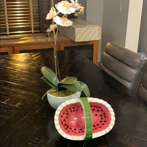Ceramic Watermelon Fruit Bowl